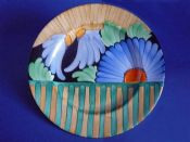 Gray's Pottery Art Deco Hand Painted 'Hampton' Floral Wall Plate c1930 #1